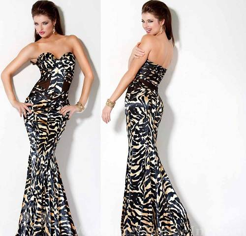 Zebra Prom Dresses 2013
