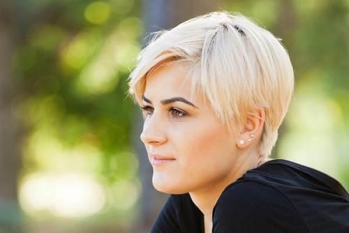 Fine Hair Short Cut Images