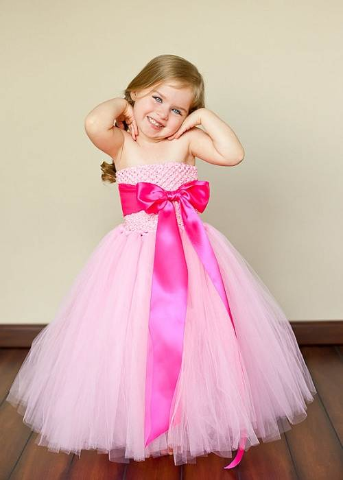 Hot Pink Flower Girl Dresses Cute