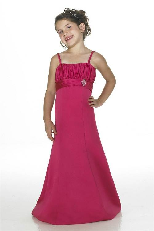 Hot Pink Flower Girl Dresses Long