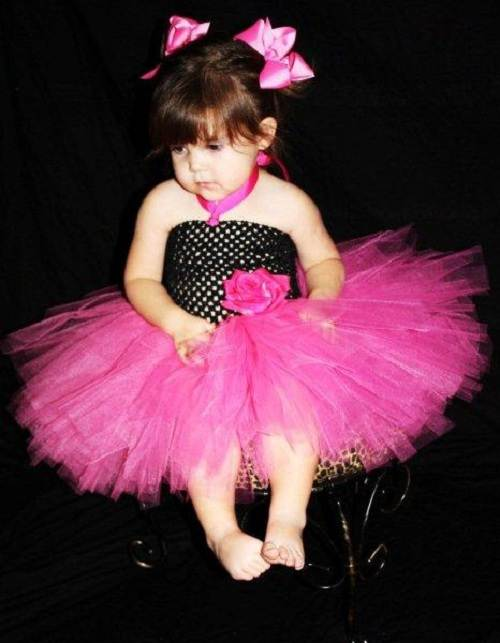 Hot Pink Flower Girl Dresses UK