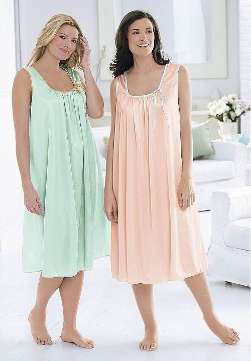 Lastest Women Nightgowns Summer Sleepwear Casual Night Dresses