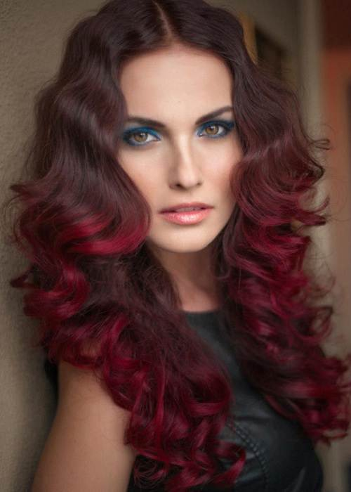 Red Violet Hair Color Ideas - Fashion Female