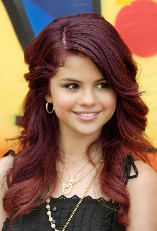 Red Violet Hair Color Photos