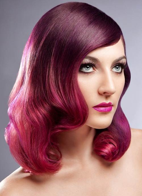 Red Violet Hair Color Pictures