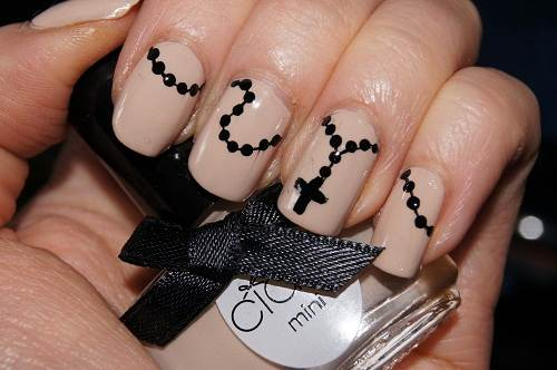 Rosary Nail Art Designs Images