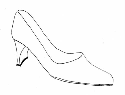 Shoes drawing Designs Coloring Page