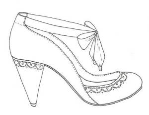 Shoes drawing Designs Wedding