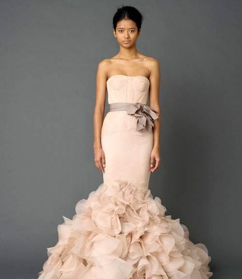 Vera Wang Pink Wedding Dresses Ideas