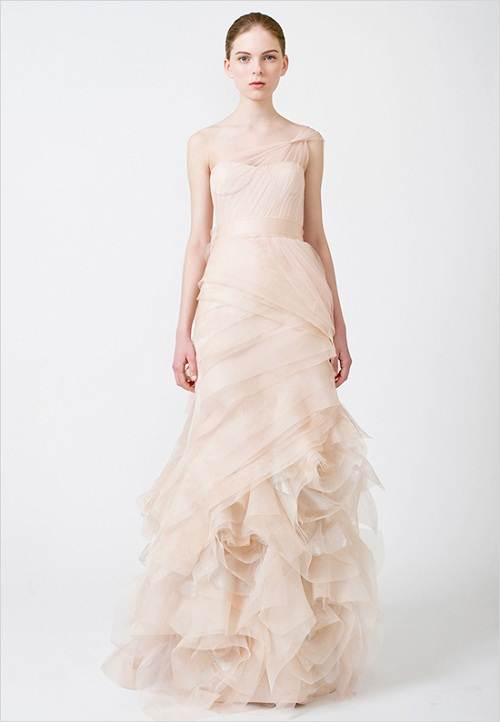Vera Wang Pink Wedding Dresses Pattern