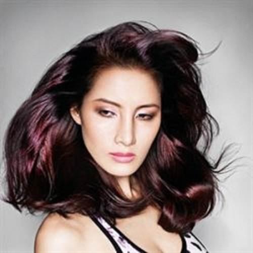Violet Brown Hair Color Images