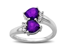 beautiful amethyst heart ring