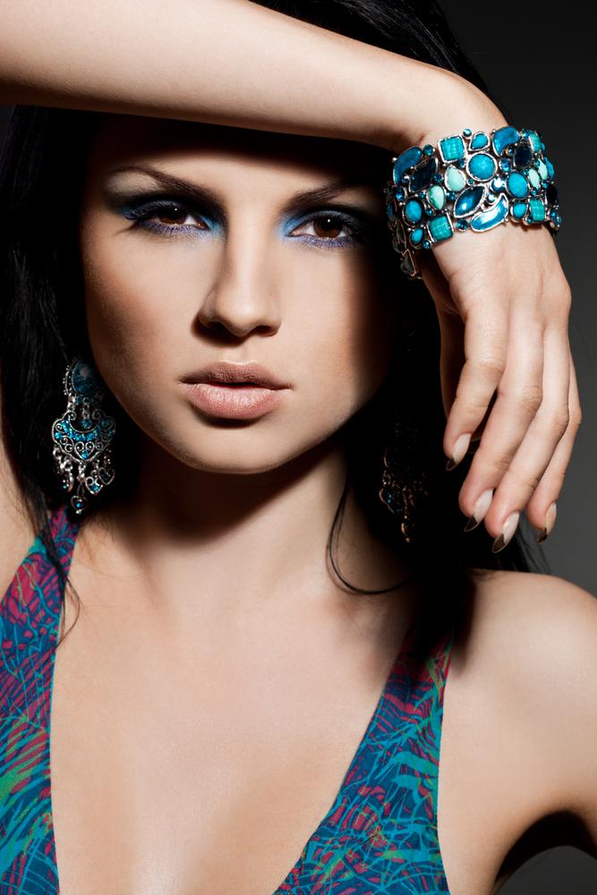 Blue gemstone jewelry